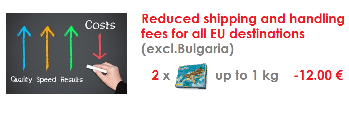 Reduced shipping and handling fees for EU destinations