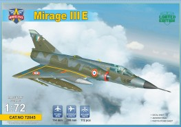 Scale model  Mirage IIIE fighter-bomber